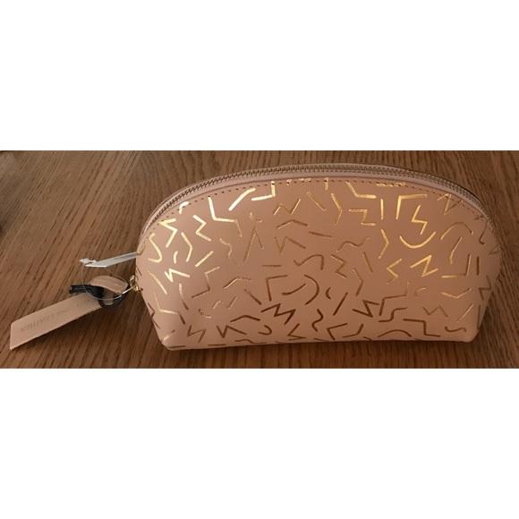 Cost Plus World Market Handbags - NEW Leather World Market Cosmetic Pencil Case